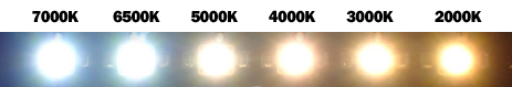 temperatura color LED H7